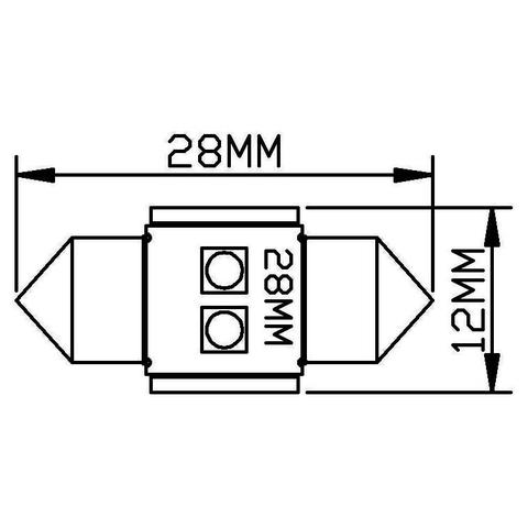 LED-лампа для салона автомобиля UP-SJ-N2-3030-28MM (белый, 12-14 В) Превью 1