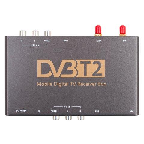 Автомобильный цифровой тюнер DVB-T2 HEVC с видеовходом Прев'ю 1