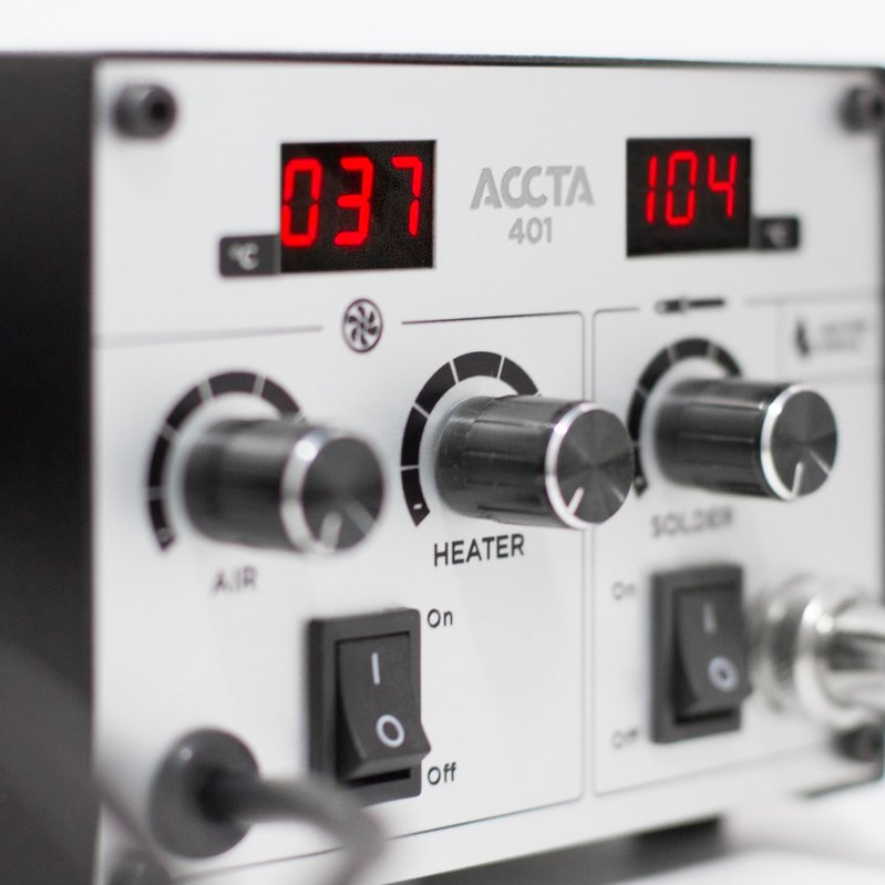 Термоповітряна паяльна станція Accta 401 Зображення 8