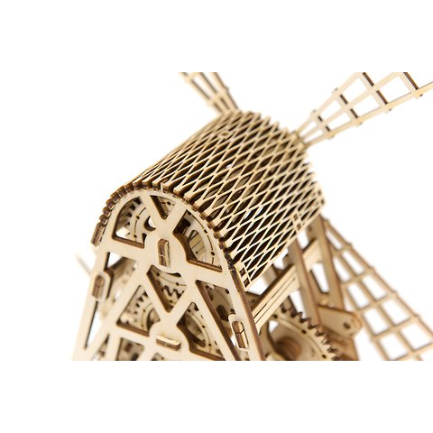Деревянный механический 3D-пазл Wooden.City Мельница Превью 5
