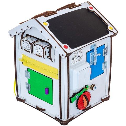 Бизиборд GoodPlay Развивающий домик с подсветкой (24×24×30) Превью 5