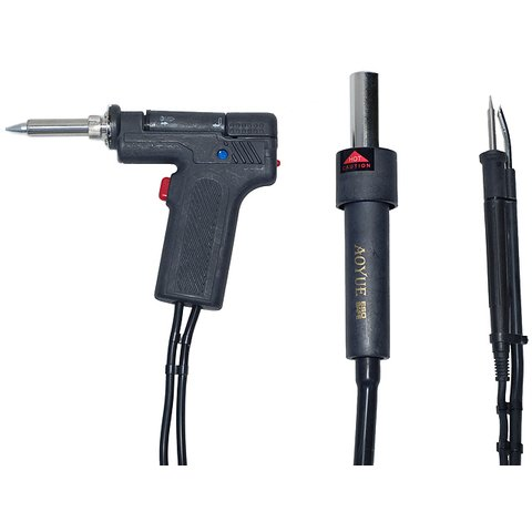 Lead-Free Hot Air Soldering Station AOYUE 2702 with Soldering Gun Preview 2